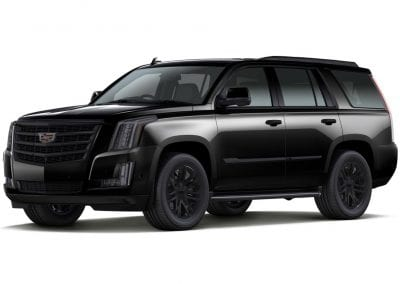 2016 Cadillac Escalade Black with Black Wheels and Trim
