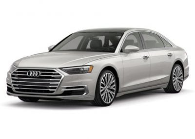 2018 Audi A8 Glacier White Wheels and Trim