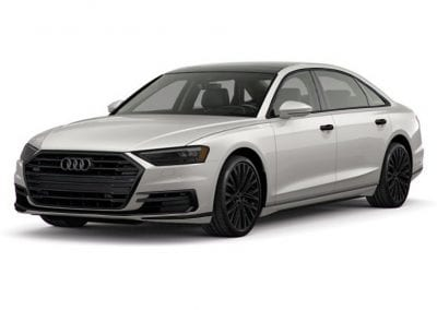 2018 Audi A8 Glacier White with Black Wheels and Trim