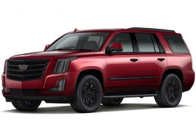 2016 Cadillac Escalade Red Passion with Black Wheels and Trim