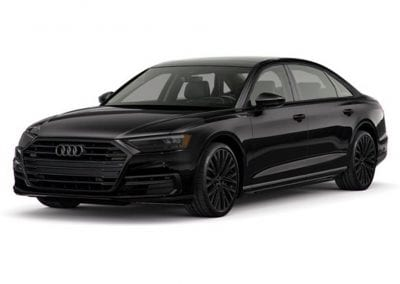 2018 Audi A8 Mythos Black with Black Wheels and Trim