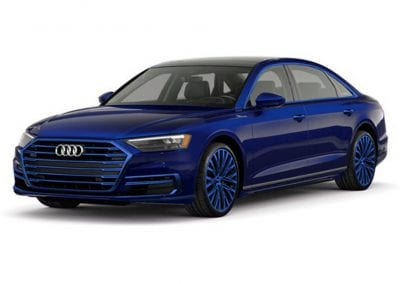 2018 Audi A8 Navarra Blue Wheels and Trim