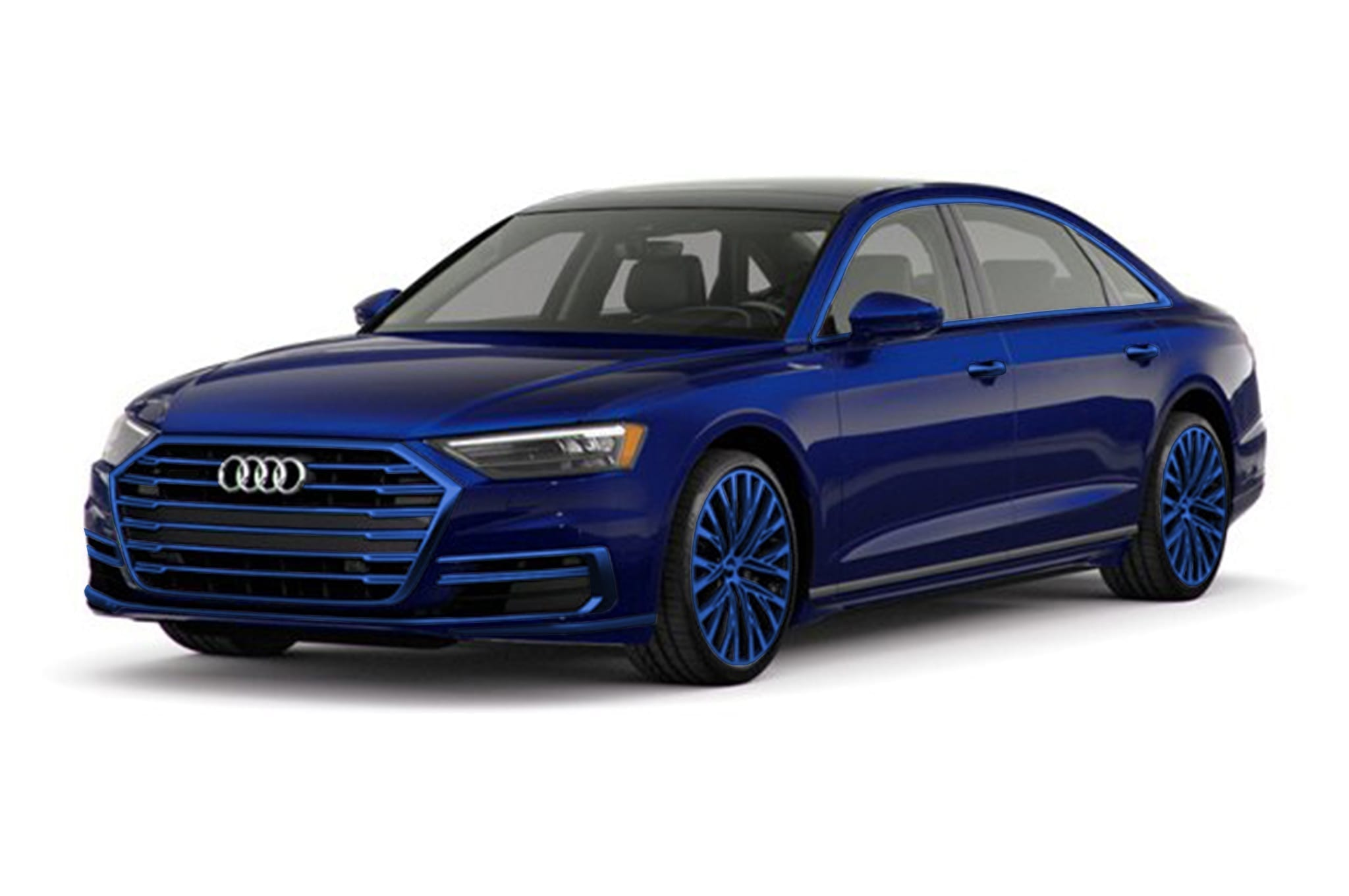 2018 Audi A8 with Same Body Accents and Wheels