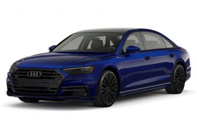 2018 Audi A8 Navarra Blue with Black Wheels and Trim