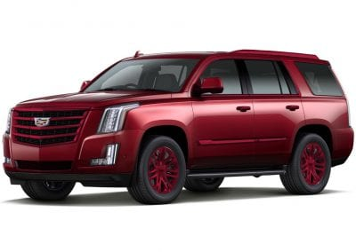 2016 Cadillac Escalade Red Passion Wheels and Trim