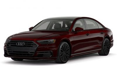 2018 Audi A8 Seville Red with Black Wheels and Trim
