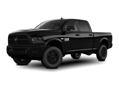 2018 Dodge Ram Black with Black Wheels and Trim