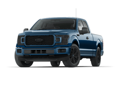 2018 Ford F150 Blue Jeans with Black Wheels and Trim