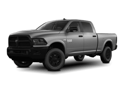 2018 Dodge Ram Bright Silver with Black Wheels and Trim