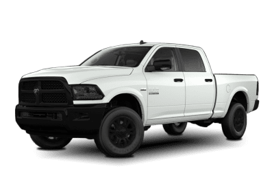 2018 Dodge Ram Bright White with Black Wheels and Trim