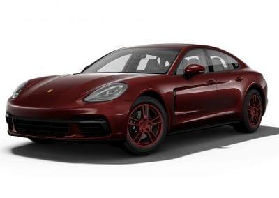 2018 Porsche Panamera Burgundy Red Wheels and Trim