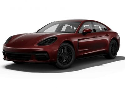 2018 Porsche Panamera Burgundy Red with Black Wheels and Trim