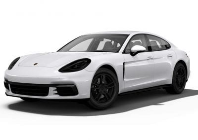 2018 Porsche Panamera Carrara White with Black Wheels and Trim