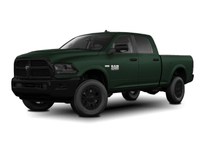 2018 Dodge Ram Dark Green with Black Wheels and Trim