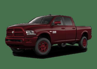 2018 Dodge Ram Delmonico Red Wheels and Trim