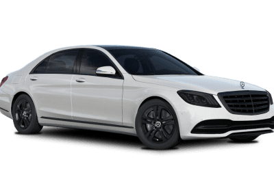2018 Mercedes-Benz S Class Diamond White with Black Wheels and Trim