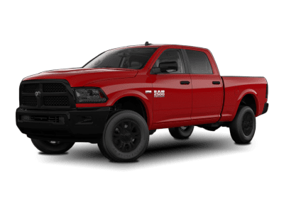 2018 Dodge Ram Flame Red with Black Wheels and Trim