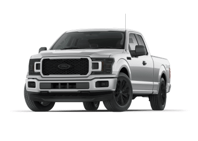 2018 Ford F150 Ingot Silver with Black Wheels and Trim