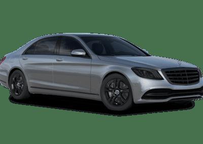 2018 Mercedes-Benz S Class Iridium Silver with Black Wheels and Trim