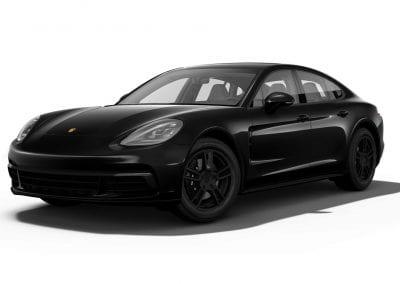 2018 Porsche Panamera Jet Black Wheels and Trim