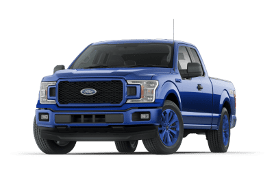 2018 Ford F150 Lightning Blue Wheels and Trim