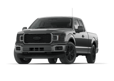 2018 Ford F150 Magentic with Black Wheels and Trim