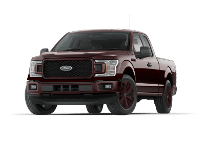 2018 Ford F150 Magma Red Wheels and Trim