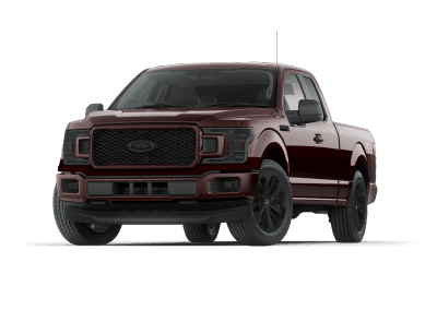 2018 Ford F150 Magma Red with Black Wheels and Trim