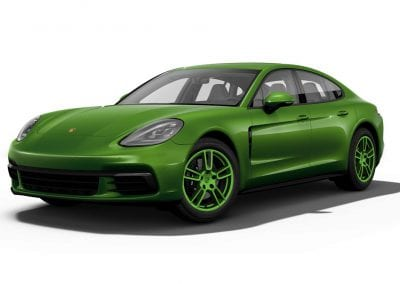 2018 Porsche Panamera Mamba Green Wheels and Trim
