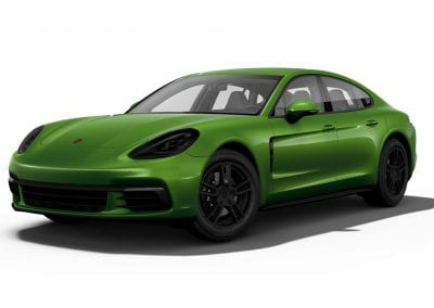 2018 Porsche Panamera Mamba Green with Black Wheels and Trim