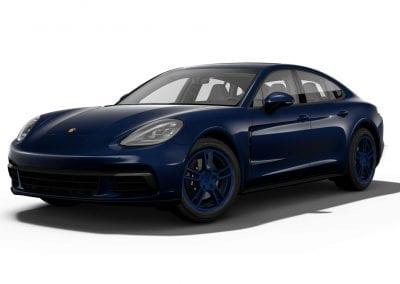 2018 Porsche Panamera Night Blue Wheels and Trim
