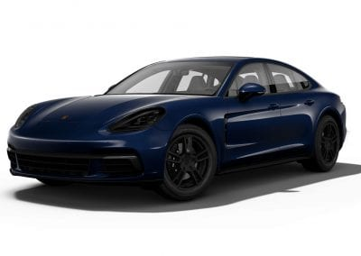 2018 Porsche Panamera Night Blue with Black Wheels and Trim