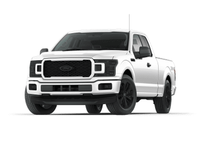 2018 Ford F150 Oxford White with Black Wheels and Trim