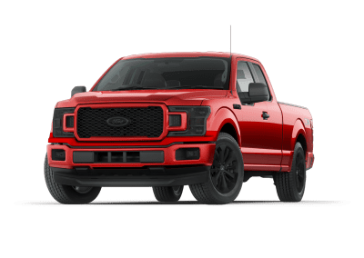 2018 Ford F150 Race Red with Black Wheels and Trim