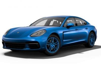 2018 Porsche Panamera Sapphire Blue Wheels and Trim