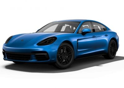 2018 Porsche Panamera Sapphire Blue with Black Wheels and Trim