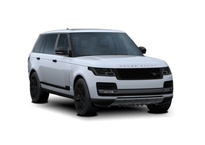 2018 Range Rover White with Black Wheels and Trim